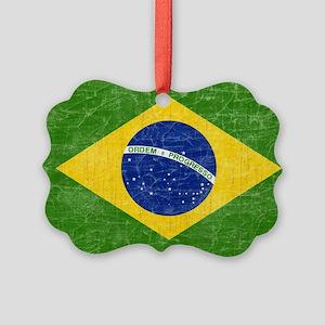 vintage-brazil-flag Picture Ornament