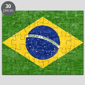 vintage-brazil-flag Puzzle