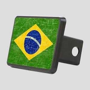 vintage-brazil-flag Rectangular Hitch Cover
