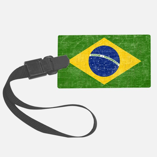 vintage-brazil-flag Luggage Tag