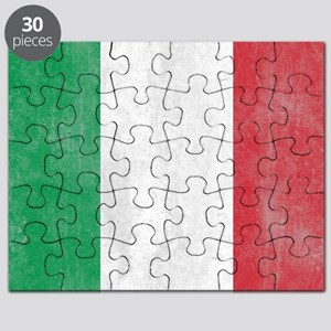 Vintage Italy Flag Puzzle