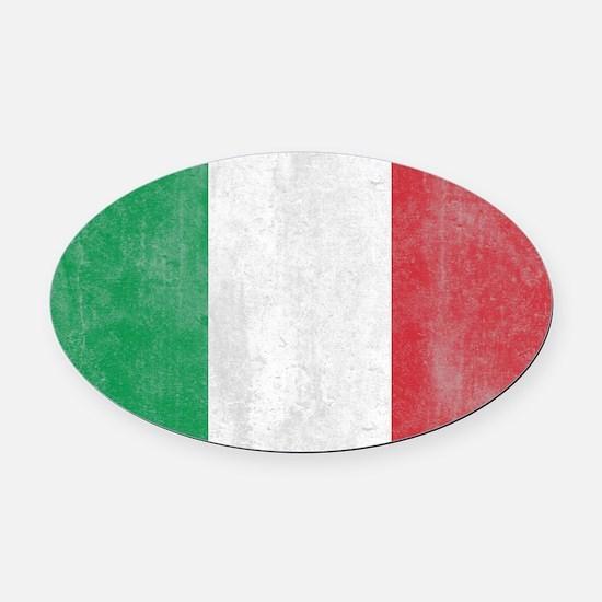 Vintage Italy Flag Oval Car Magnet