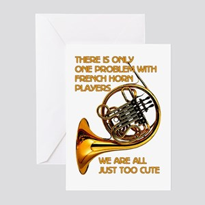 French Horn Cutie Greeting Cards (Pk of 10)