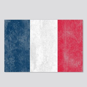 Vintage France Flag Postcards (Package of 8)