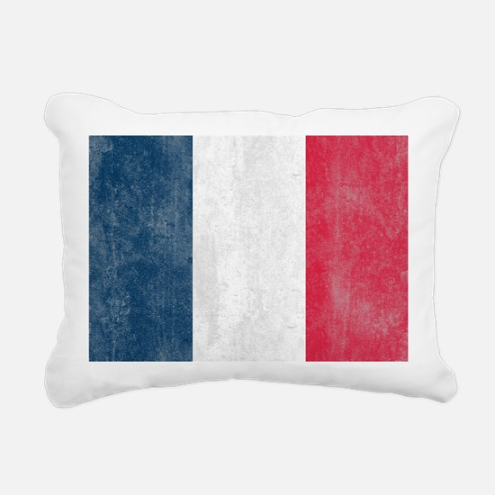 Vintage France Flag Rectangular Canvas Pillow