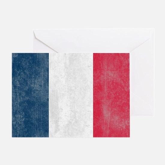 Vintage France Flag Greeting Card