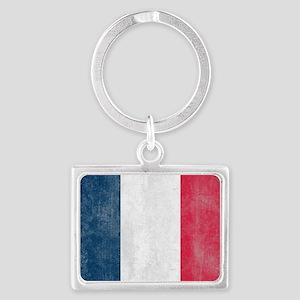 Vintage France Flag Landscape Keychain