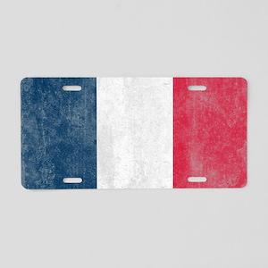 Vintage France Flag Aluminum License Plate