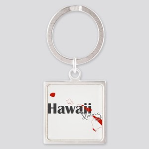 Hawaii Diver Square Keychain
