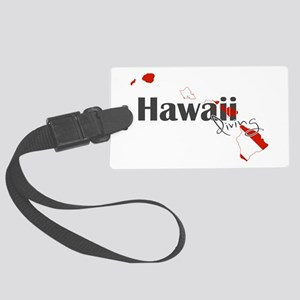 Hawaii Diver Large Luggage Tag
