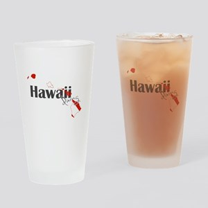 Hawaii Diver Drinking Glass