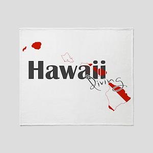 Hawaii Diver Throw Blanket