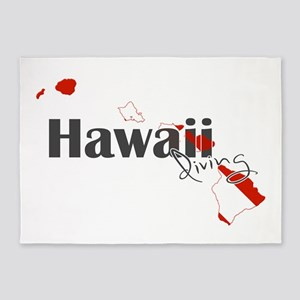 Hawaii Diver 5'x7'Area Rug