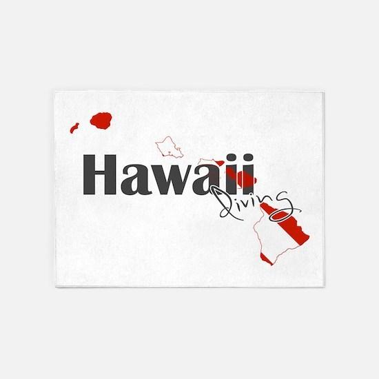 Hawaii Diver 5'x7'Area Rug