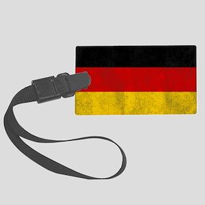 vintage-germany-flag Large Luggage Tag