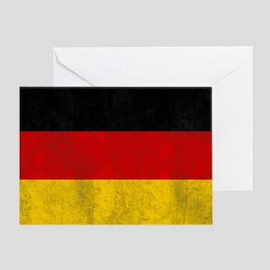 vintage-germany-flag Greeting Card