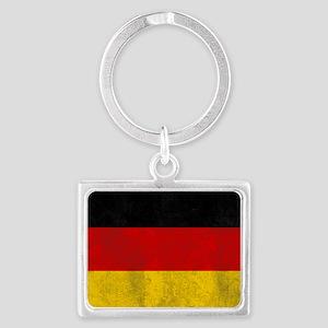 vintage-germany-flag Landscape Keychain