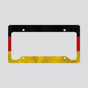 vintage-germany-flag License Plate Holder