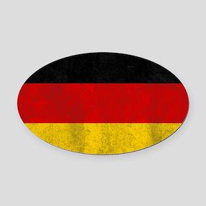vintage-germany-flag Oval Car Magnet