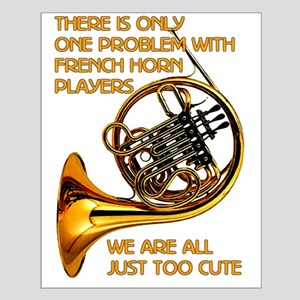 French Horn Cutie Small Poster