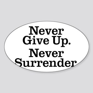 never_give_up Sticker (Oval)