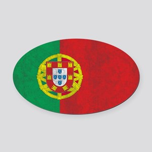 Vintage Portugal Flag Oval Car Magnet