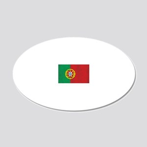 Vintage Portugal Flag 20x12 Oval Wall Decal