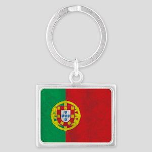 Vintage Portugal Flag Landscape Keychain