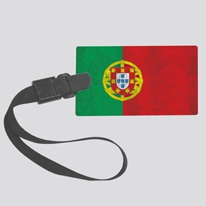 Vintage Portugal Flag Large Luggage Tag