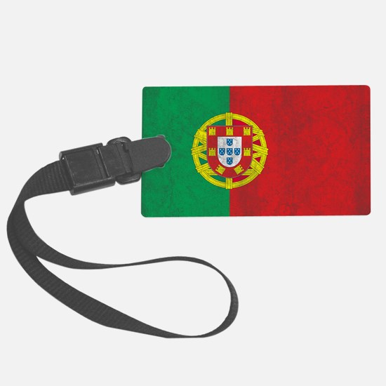 Vintage Portugal Flag Luggage Tag
