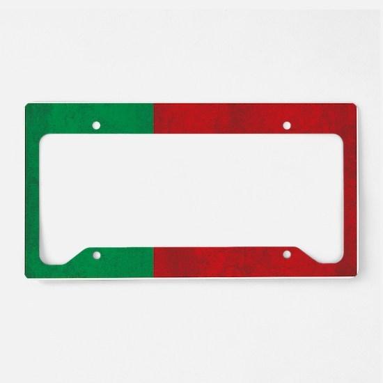 Vintage Portugal Flag License Plate Holder