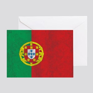 Vintage Portugal Flag Greeting Card