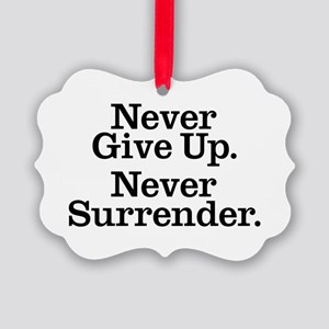 never_give_up_2 Picture Ornament