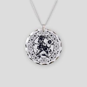 Goat1 Necklace Circle Charm