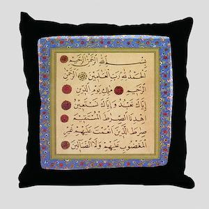 aziz_effendi_alfatiha_sq2 Throw Pillow