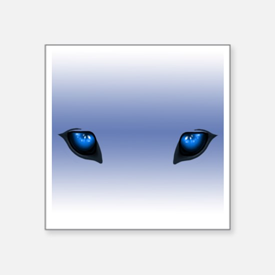 "wolfeyes Square Sticker 3"" x 3"""