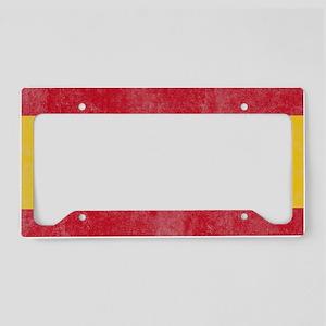 Vintage Spain Flag License Plate Holder