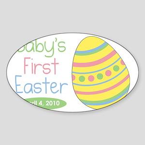 babysfirsteaster Sticker (Oval)