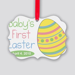 babysfirsteaster Picture Ornament