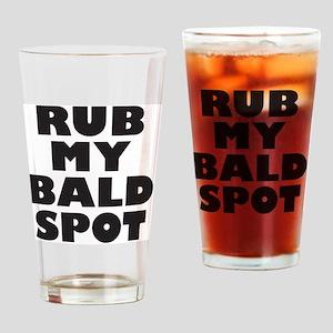 rubmybaldspot Drinking Glass