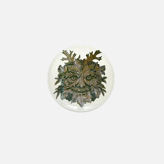 Greenman Carving Mini Button