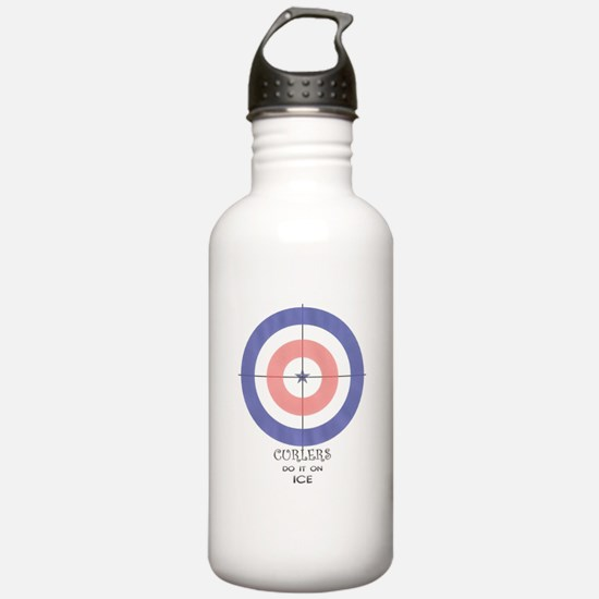 final curls logo Water Bottle
