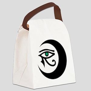MoonWaxEyeHorus_black_JadeIris_28 Canvas Lunch Bag