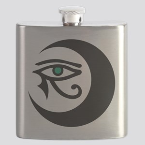MoonWaxEyeHorus_black_JadeIris_2848 Flask