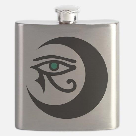 MoonWaxEyeHorus_black_JadeIris_2848 Flask