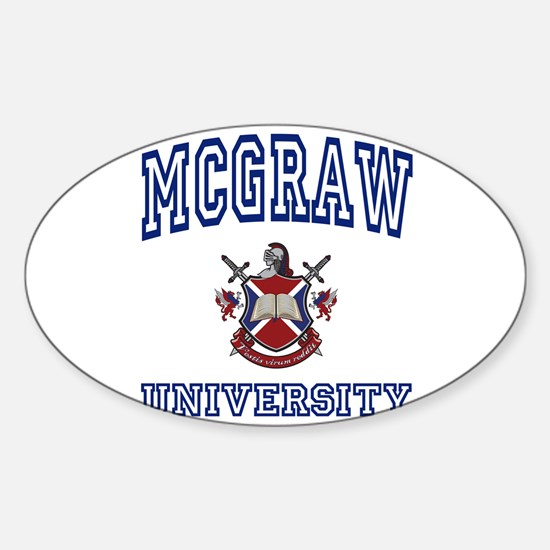 MCGRAW University Oval Decal