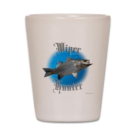 wiper fishing Shot Glass