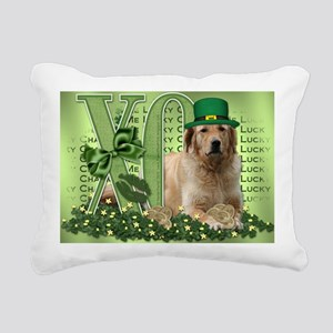 Golden_Lucky_Charm5x7 Rectangular Canvas Pillow