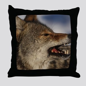 coyote vole portrait Throw Pillow