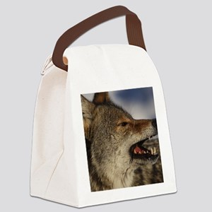 coyote vole portrait Canvas Lunch Bag